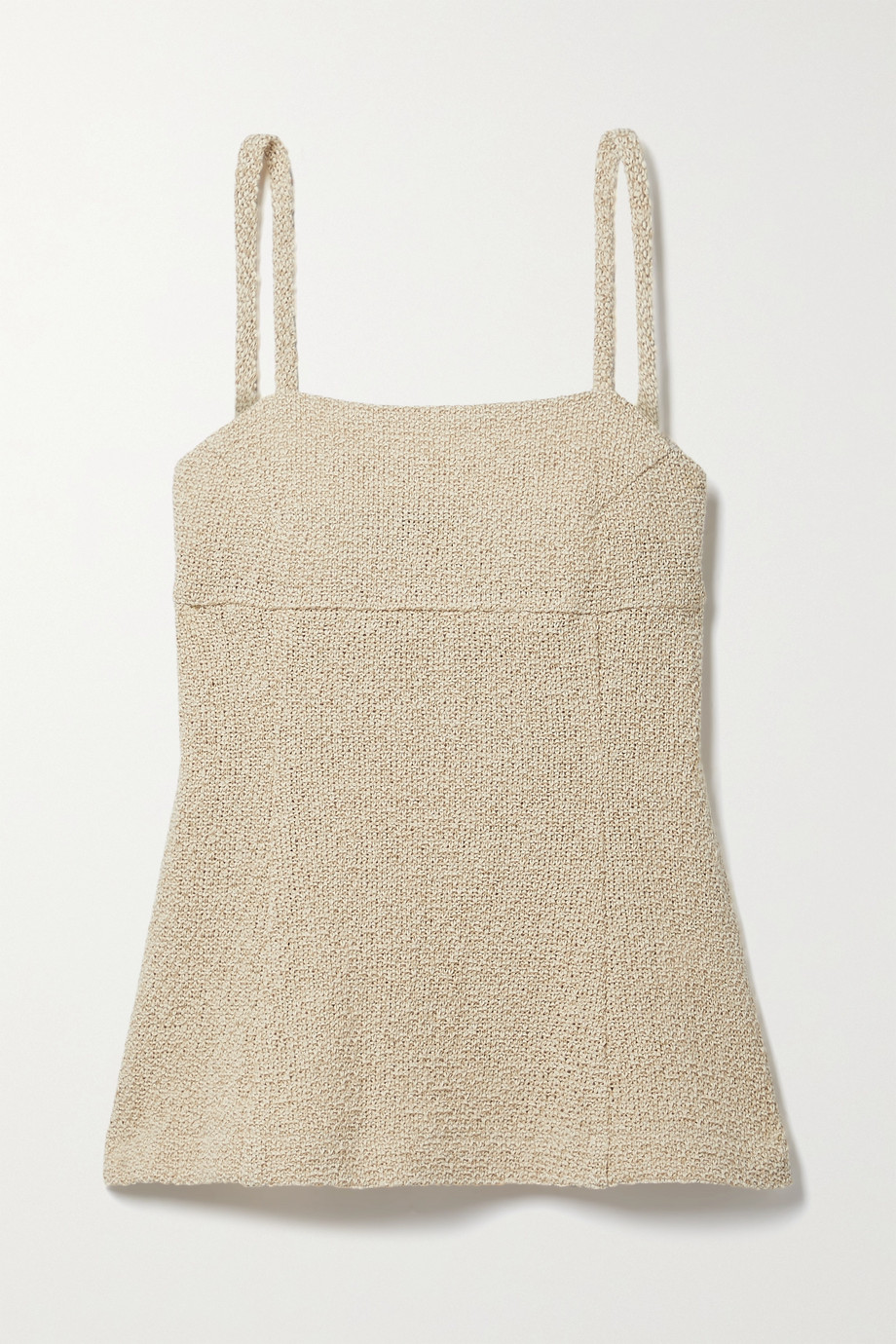 LE 17 SEPTEMBRE Top aus einer Leinen-Baumwollmischung