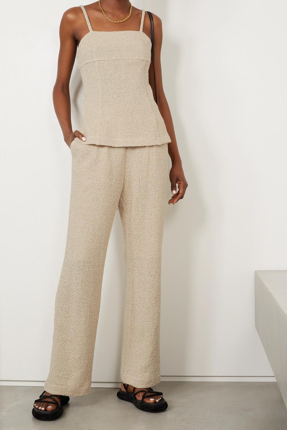 LE 17 SEPTEMBRE Linen and cotton-blend camisole