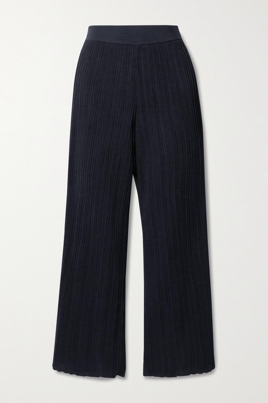 LE 17 SEPTEMBRE Hose mit geradem Bein aus einer gerippten Baumwollmischung