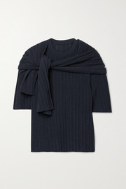 LE 17 SEPTEMBRE Ribbed cotton-blend top and scarf set