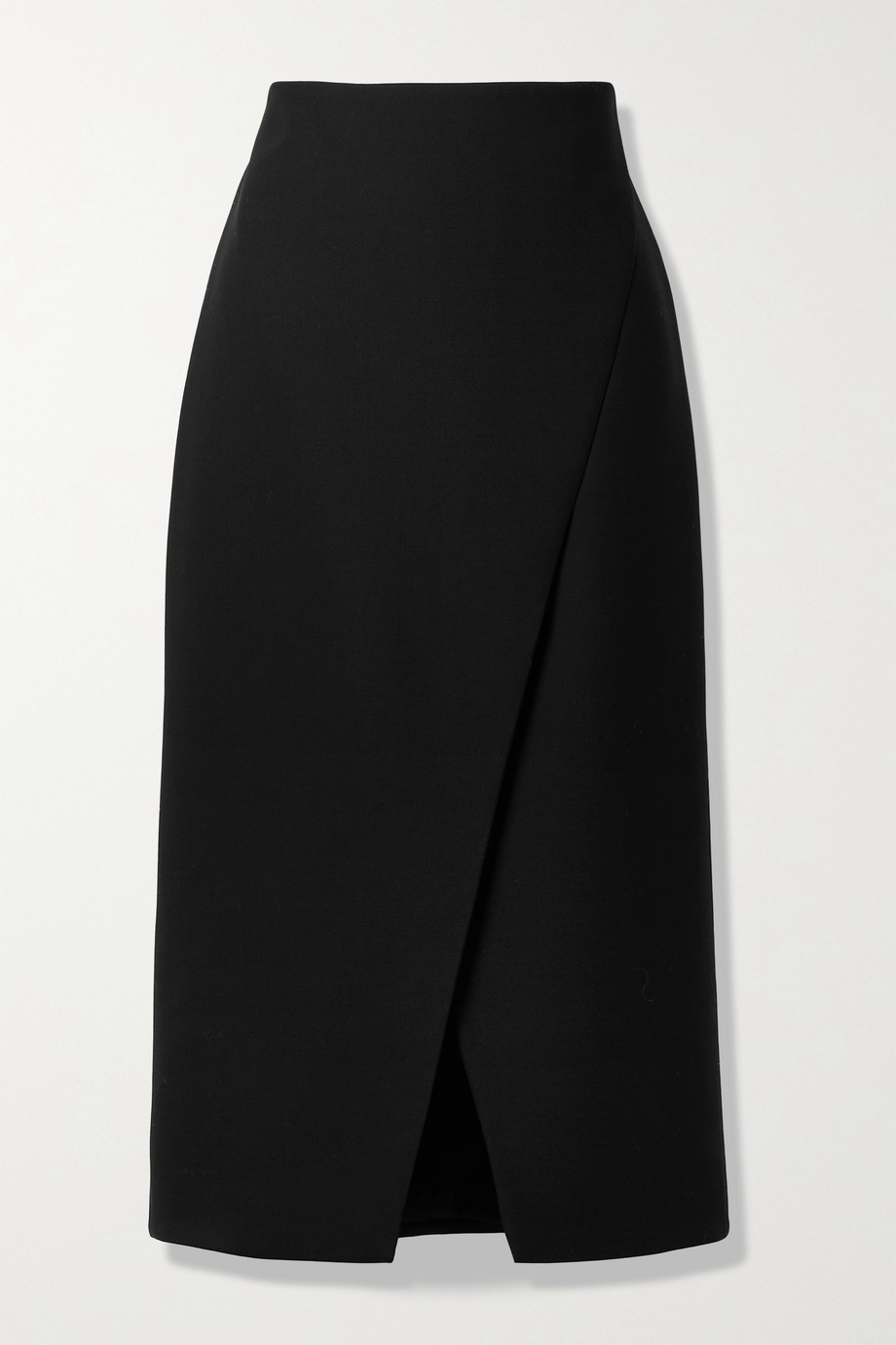 Theory Wrap-effect woven midi skirt