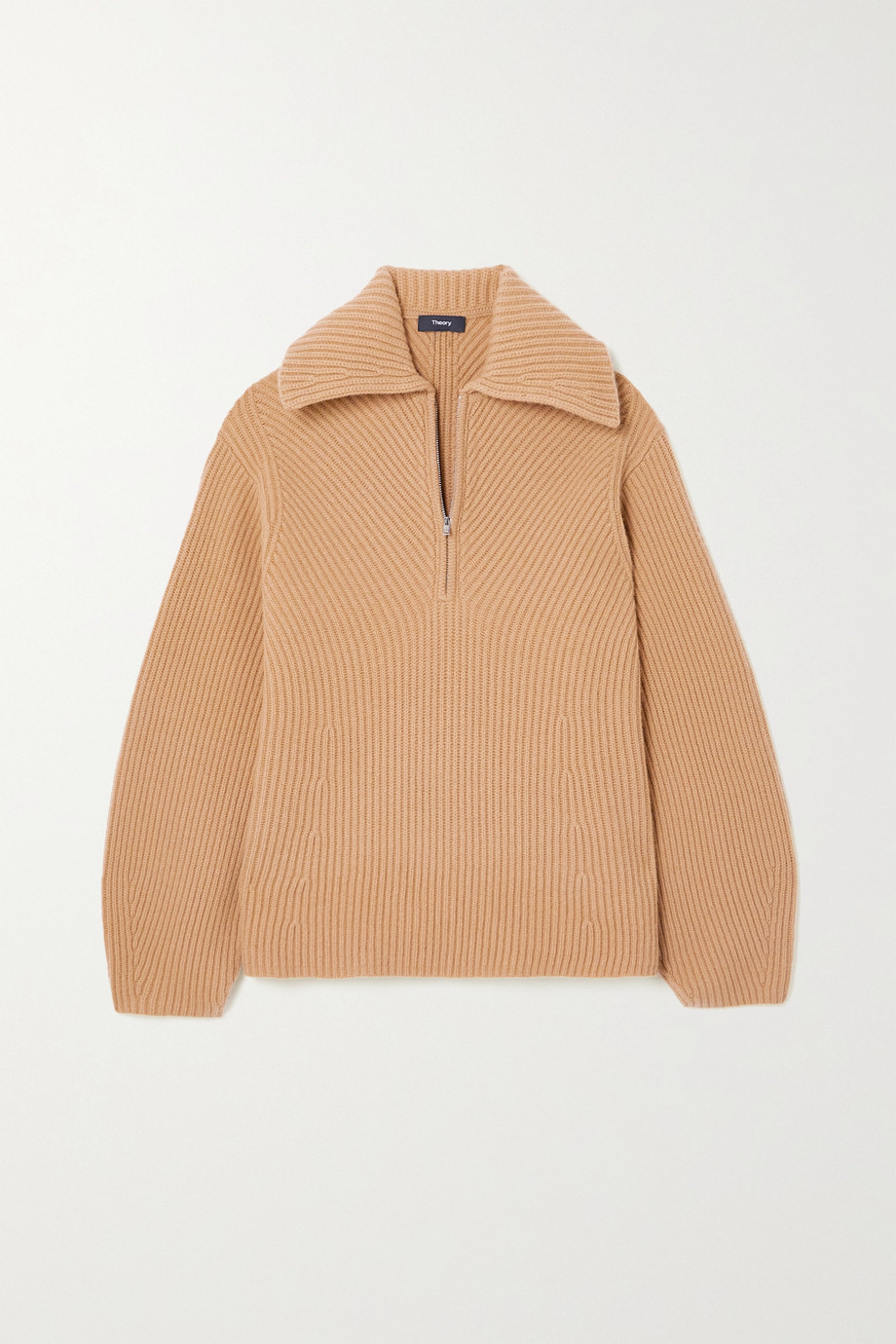 Theory Moving ribbed wool and cashmere-blend sweater