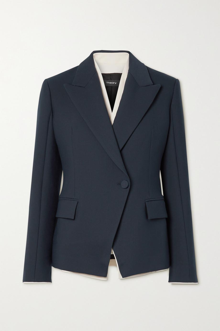 Theory Layered woven blazer