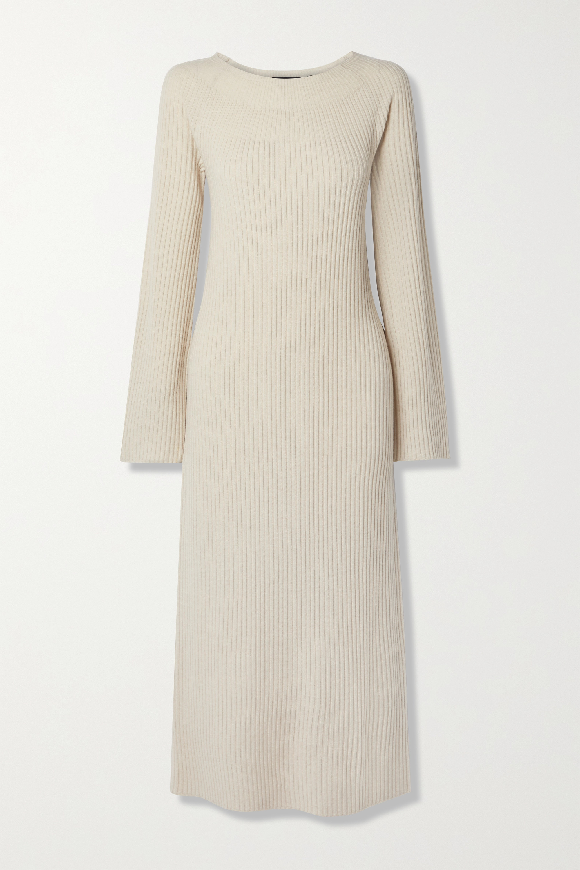 Theory Ribbed wool and cashmere-blend midi dress