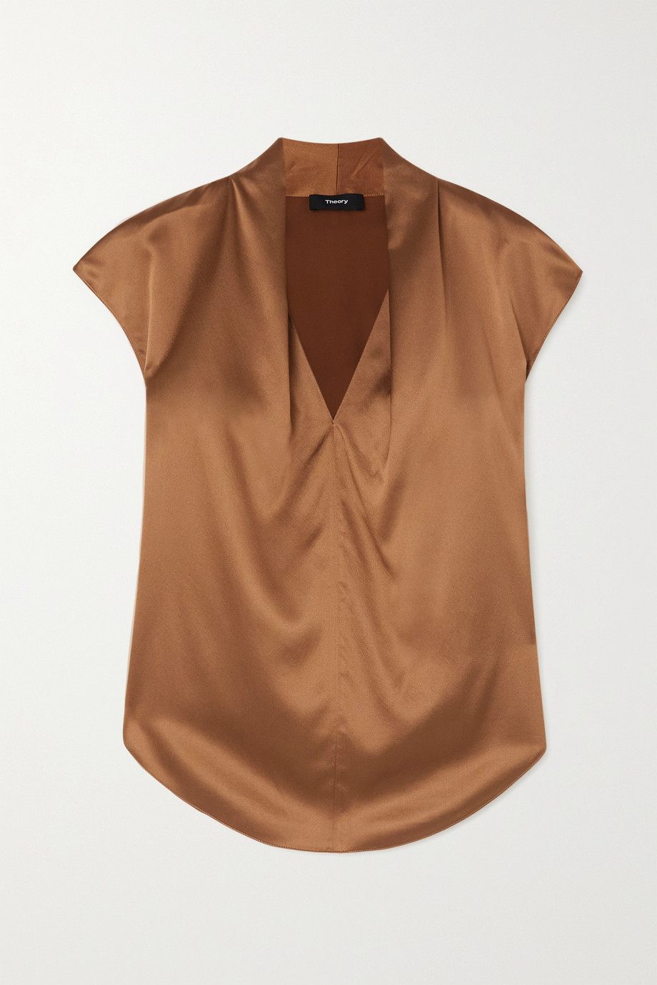 Theory Silk-blend satin top
