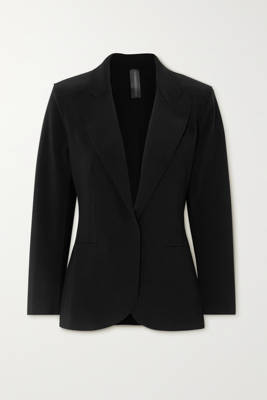 Norma Kamali 弹力平纹布西装外套