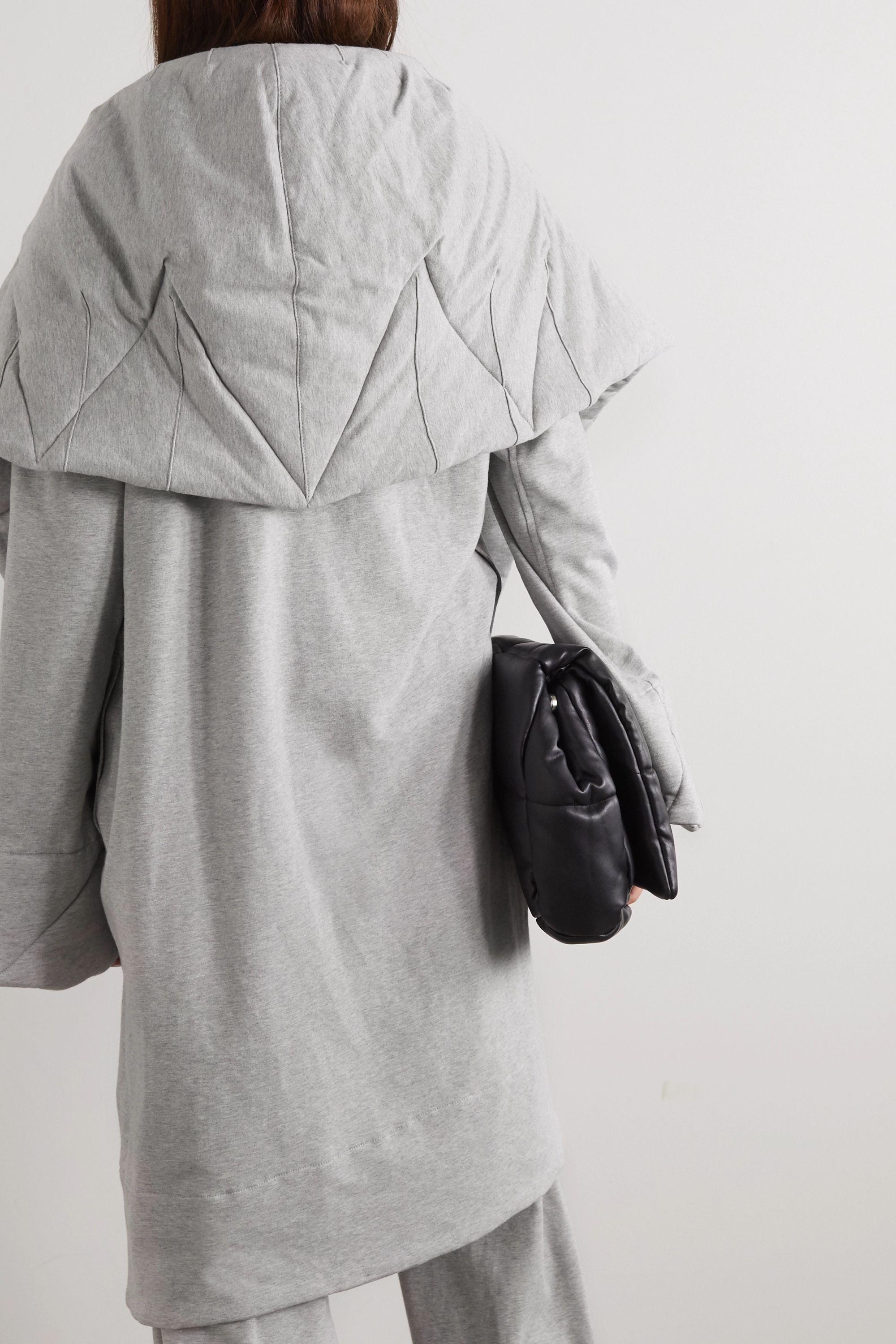 Norma Kamali Manteau oversize en jersey de coton stretch chiné matelassé