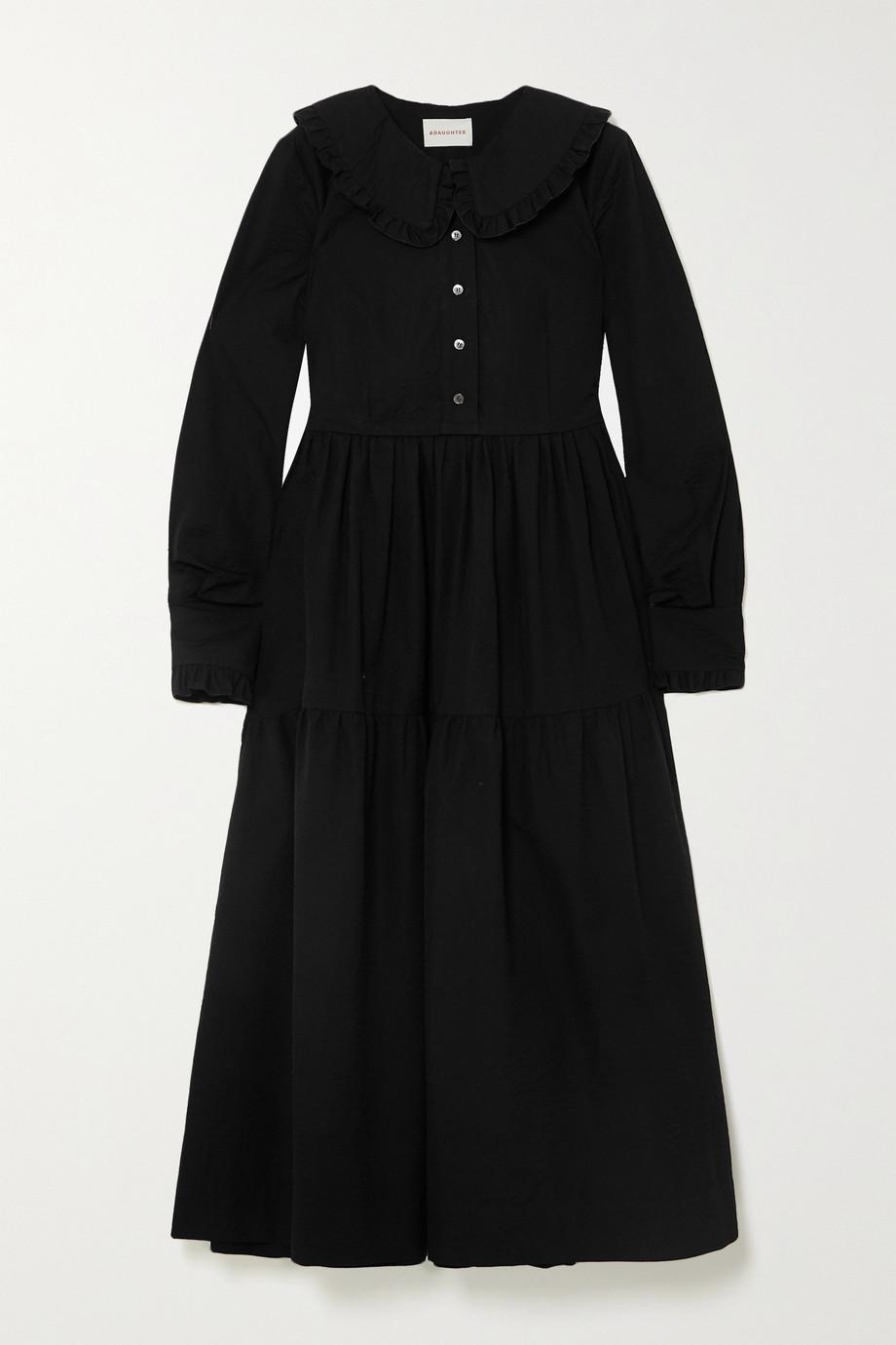 &Daughter + NET SUSTAIN Maxime tiered ruffled cotton-seersucker midi dress