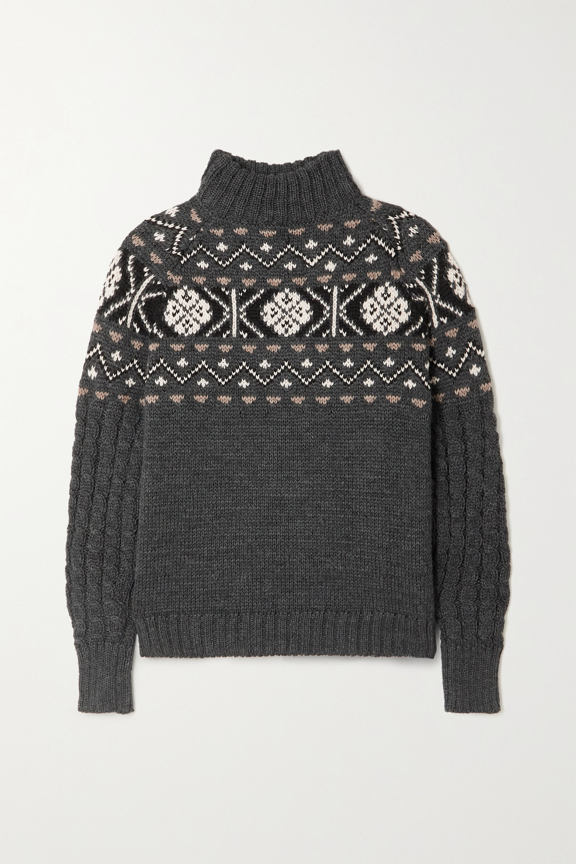 &Daughter + NET SUSTAIN Maud Fair Isle wool sweater
