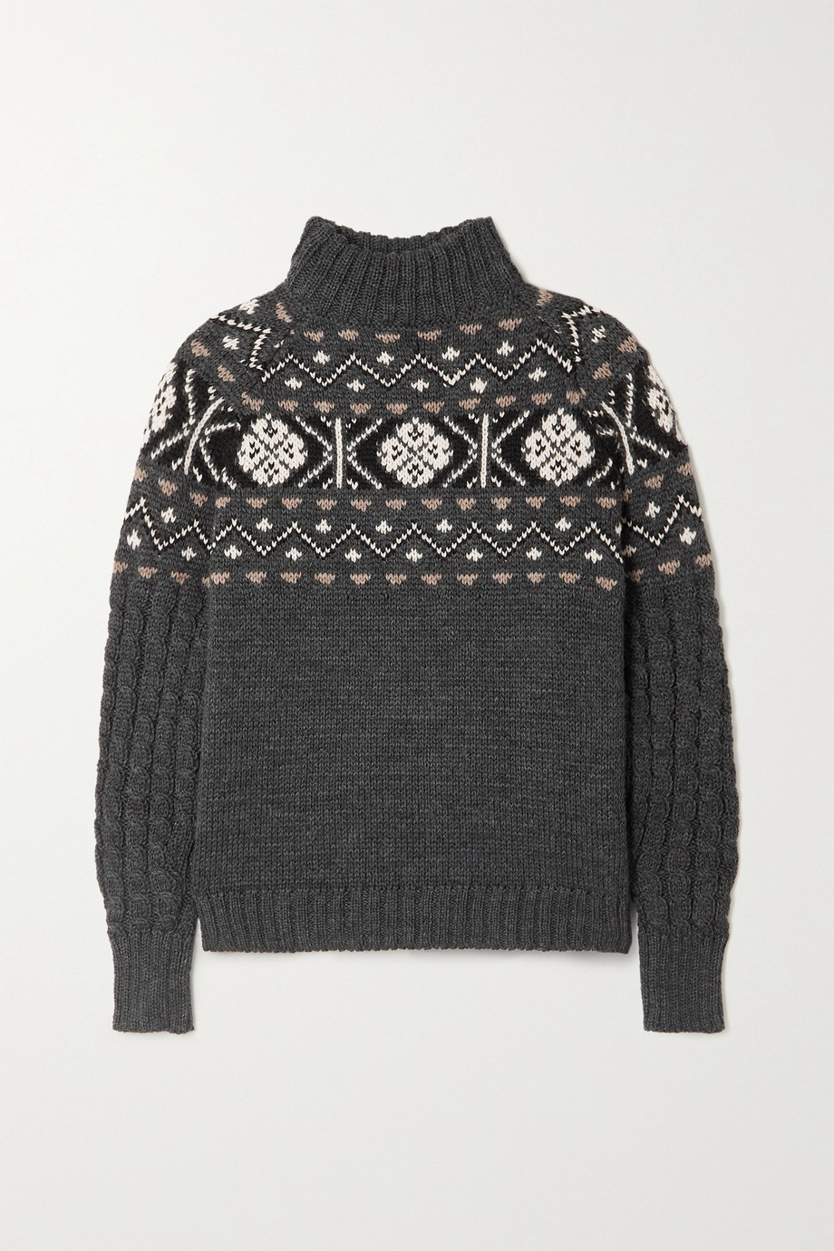 &Daughter + NET SUSTAIN Maud Fair Isle wool sweater