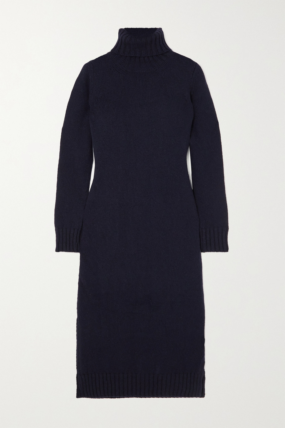 &Daughter + NET SUSTAIN Simone wool turtleneck midi dress