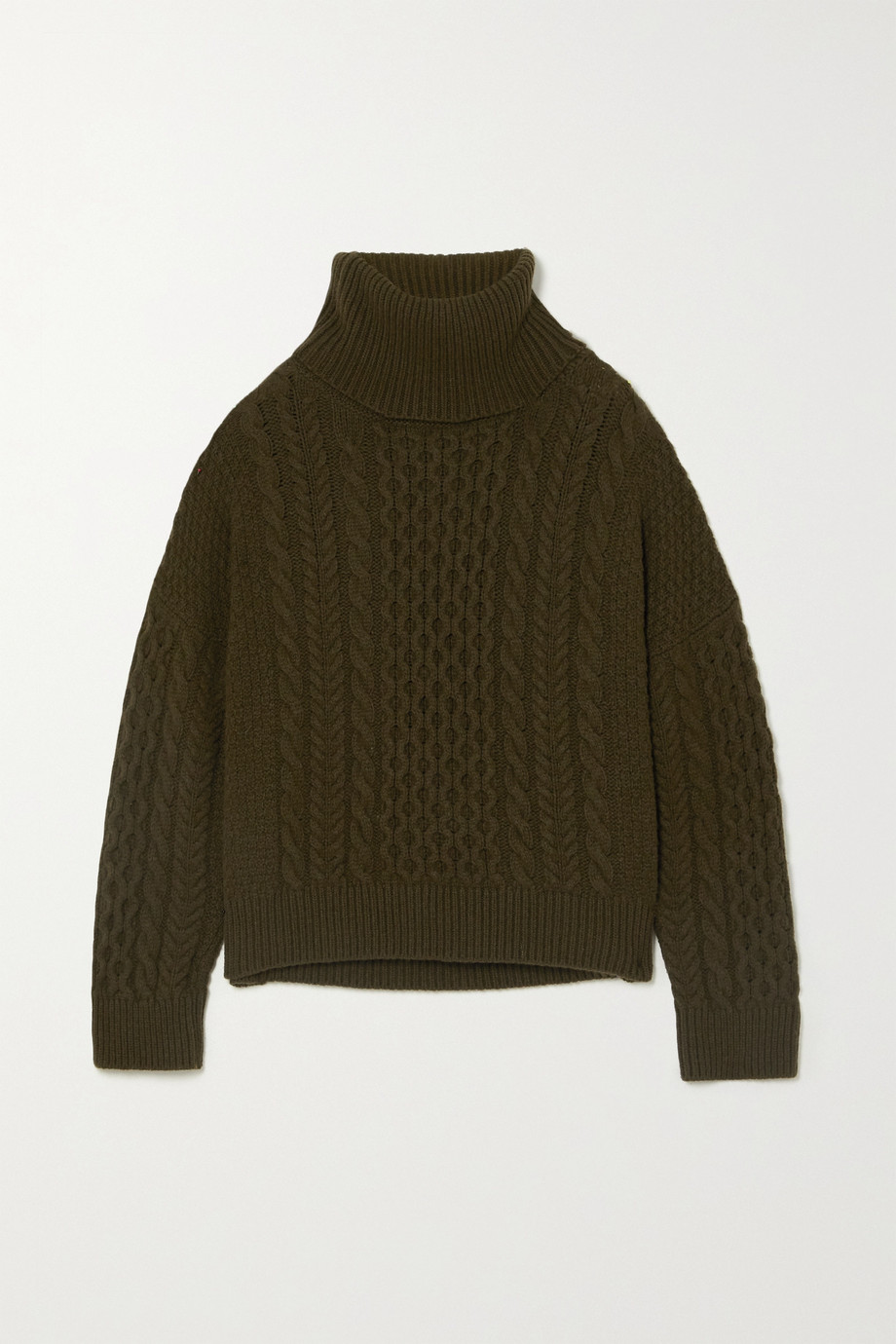&Daughter + NET SUSTAIN Alva cable-knit wool turtleneck sweater