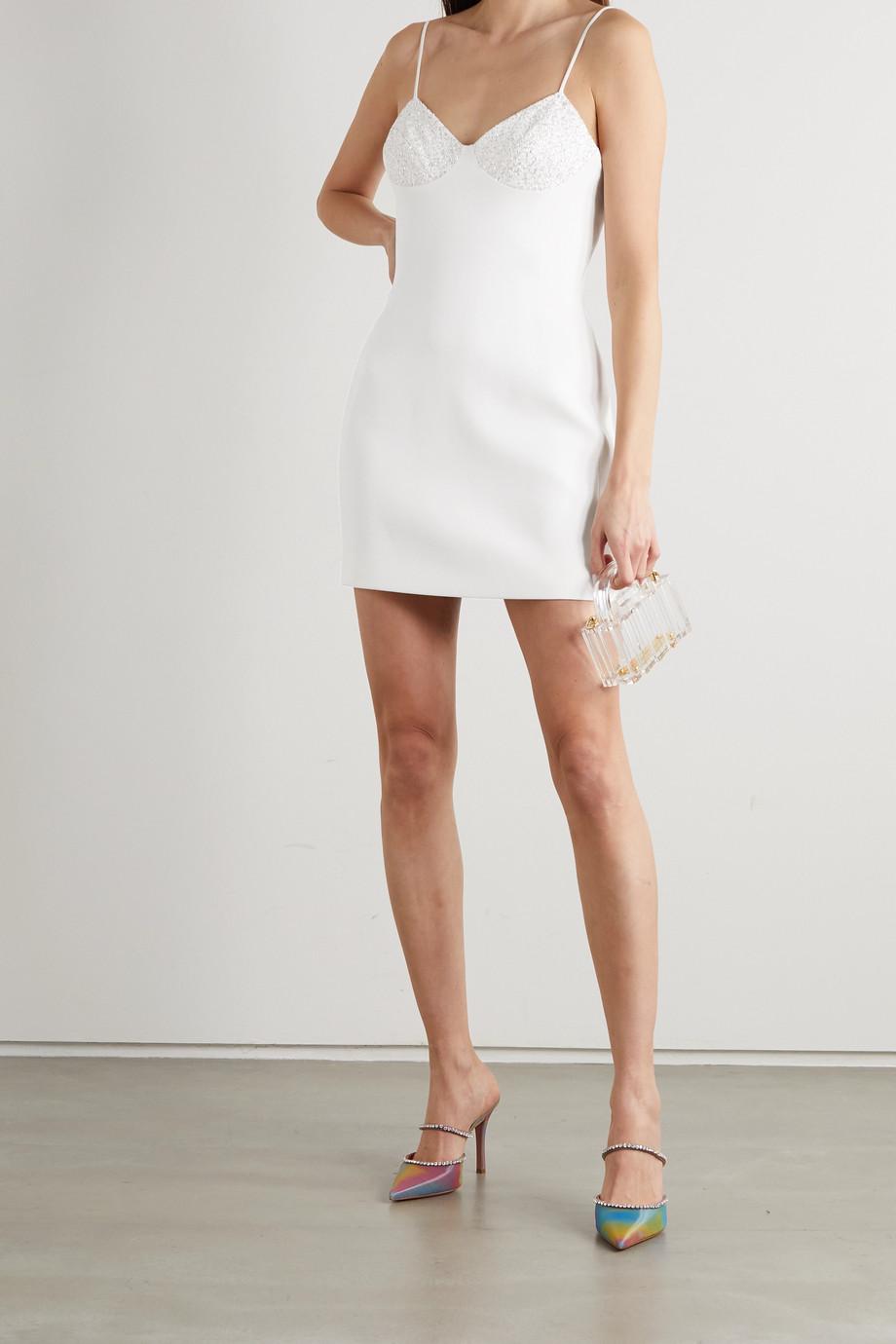 David Koma Glittered cady mini dress