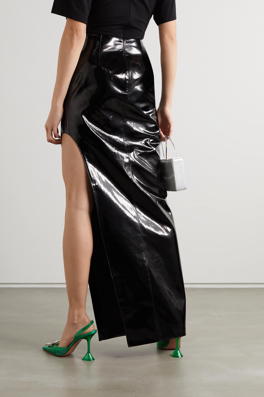 David Koma Patent-leather maxi skirt