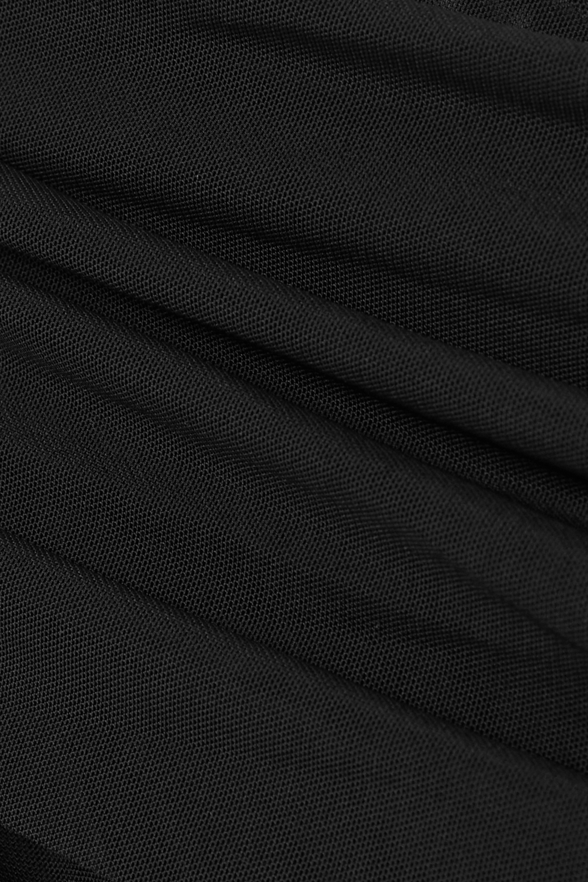 David Koma Draped stretch-tulle bodysuit