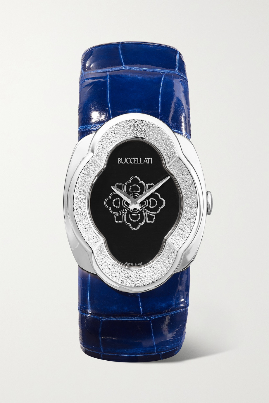 Buccellati Opera 28mm 18-karat white gold and alligator watch