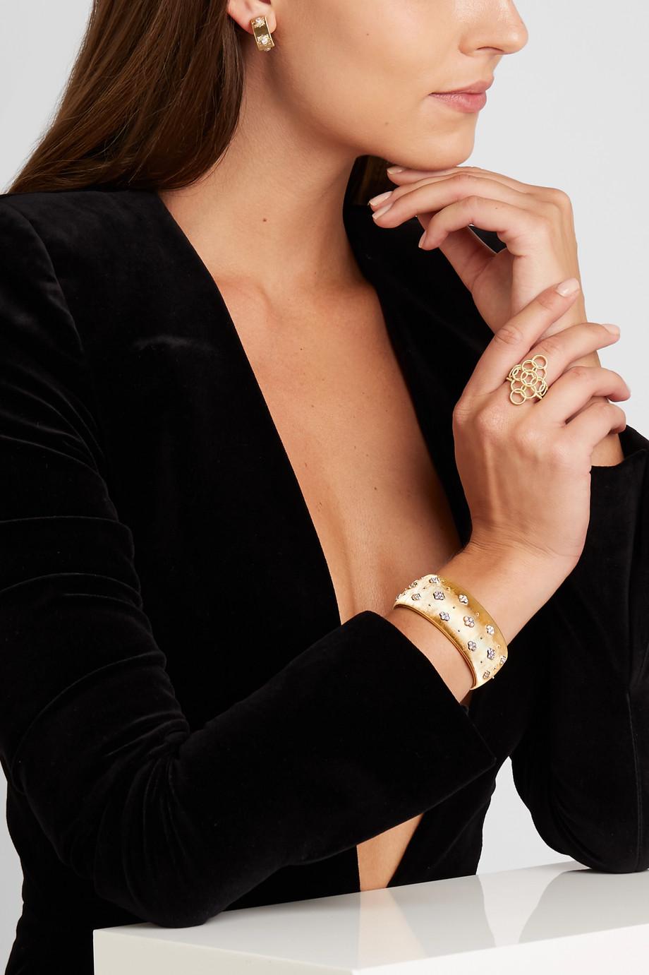 Buccellati Macri 18-karat gold diamond cuff