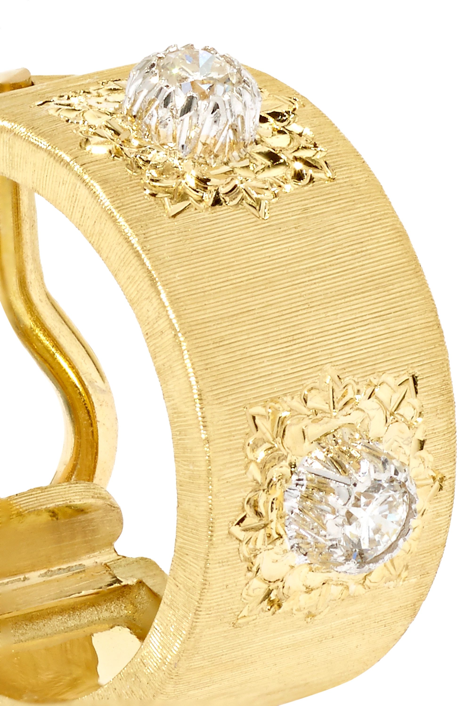 Buccellati Macri Classica 18K 黄金钻石耳环