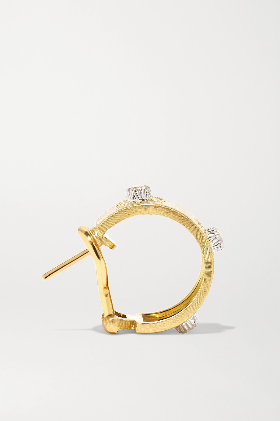 Buccellati Macri Classica 18-karat gold diamond hoop earrings