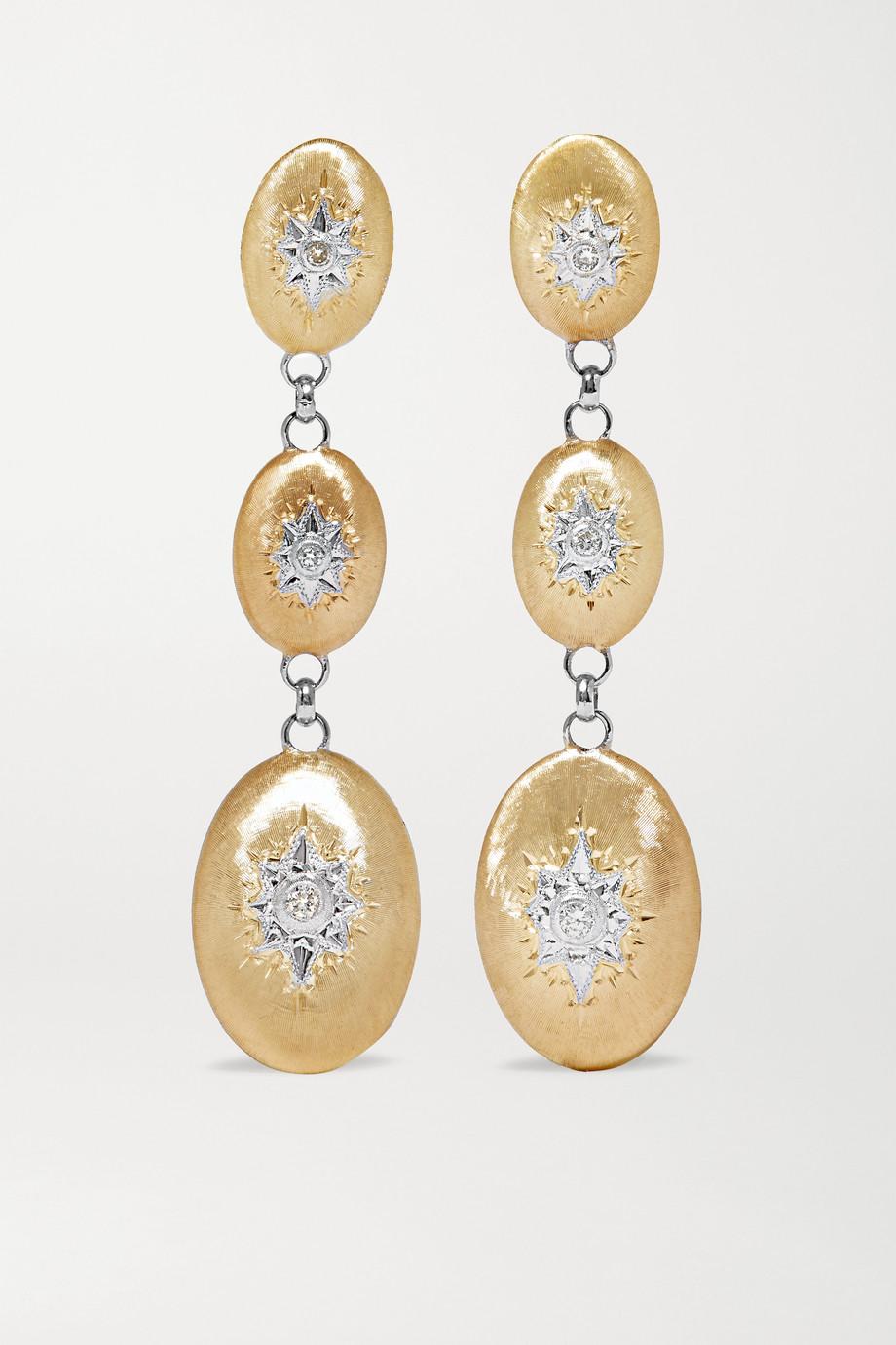 Buccellati Macri Ohrringe aus 18 Karat Gelb- und Weißgold mit Diamanten