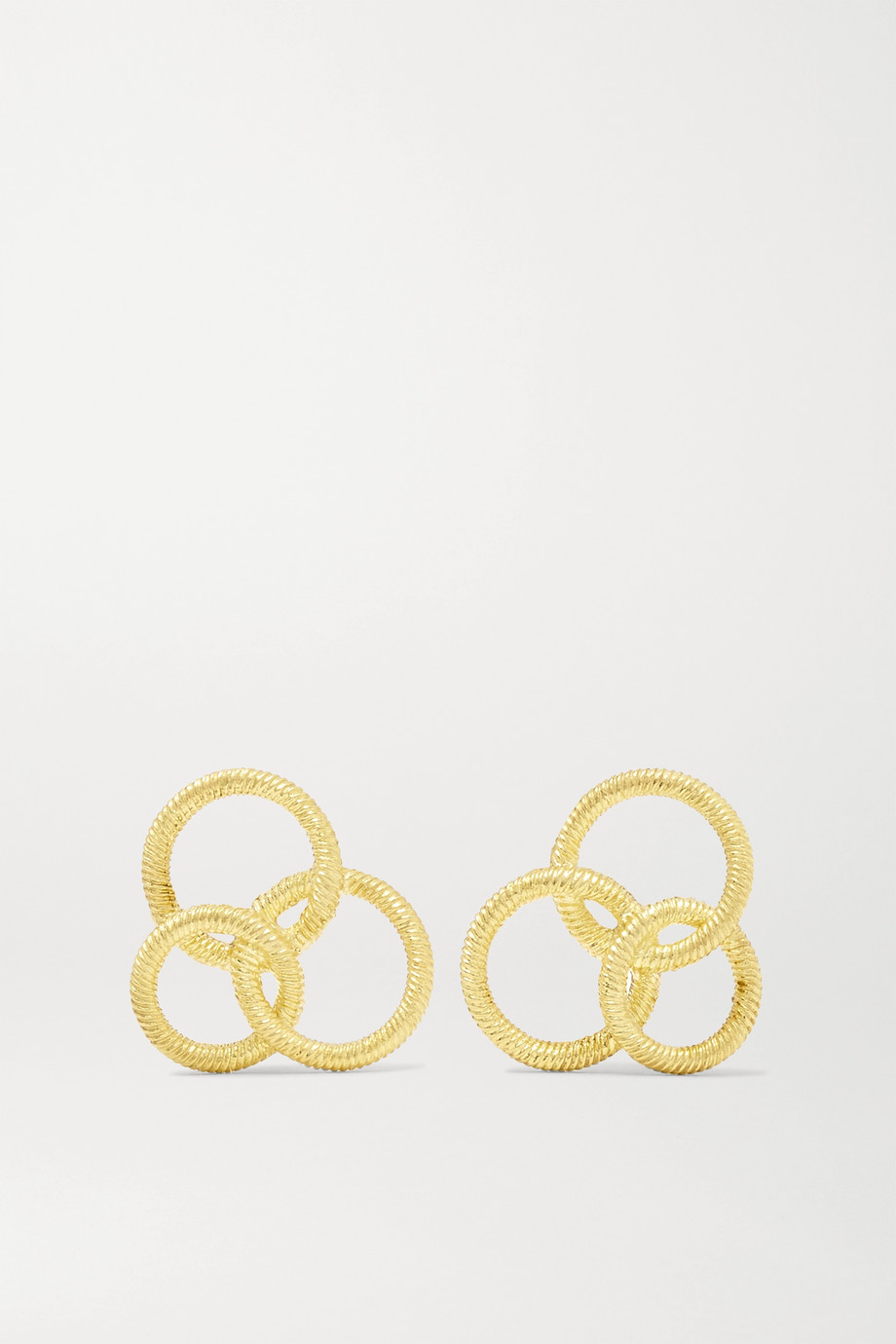 Buccellati Hawaii 18-karat gold earrings