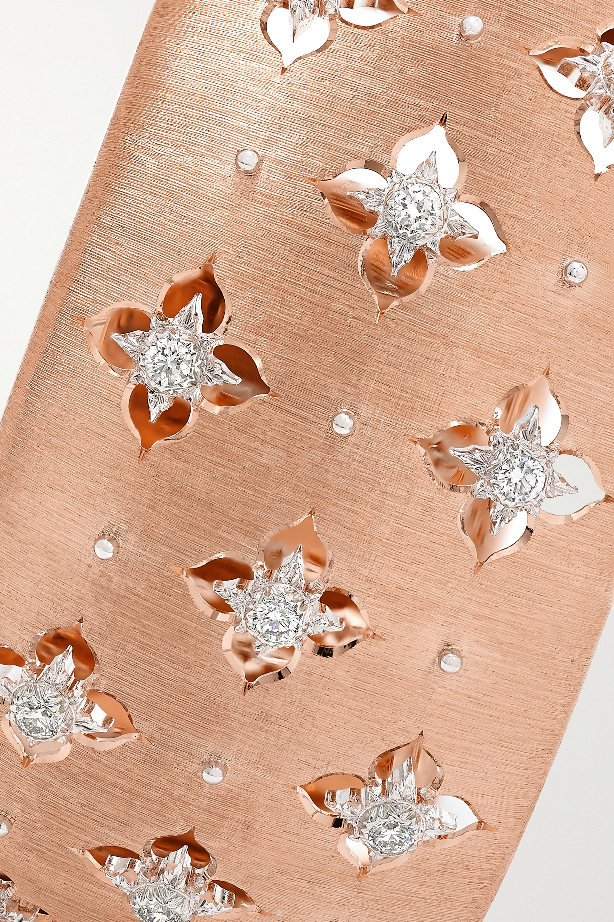 Rose Gold Macri Giglio 18-karat Pink And White Diamond Cuff   Buccellati