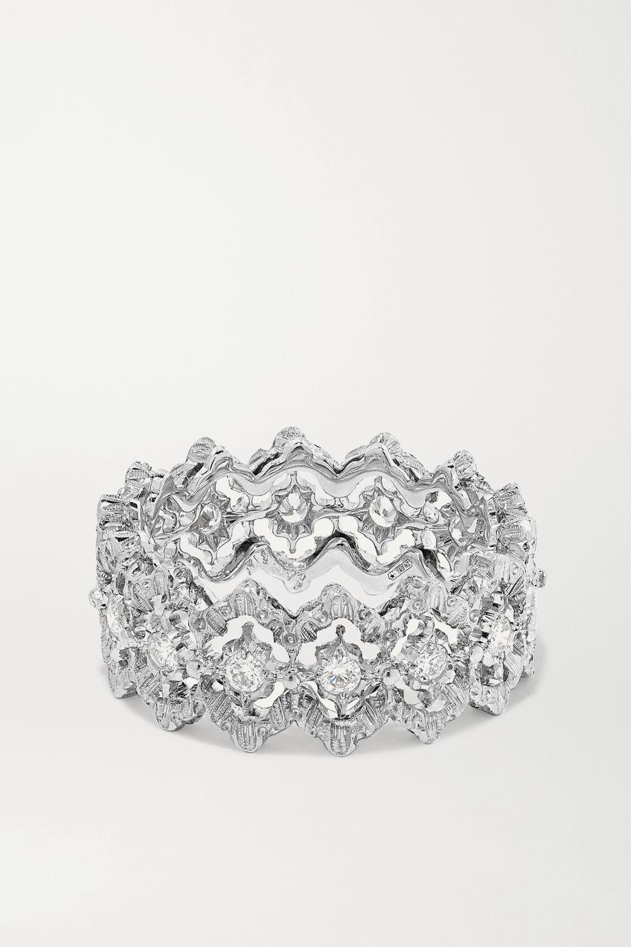 Buccellati Rombi Eternelle Ring aus 18 Karat Weißgold mit Diamanten