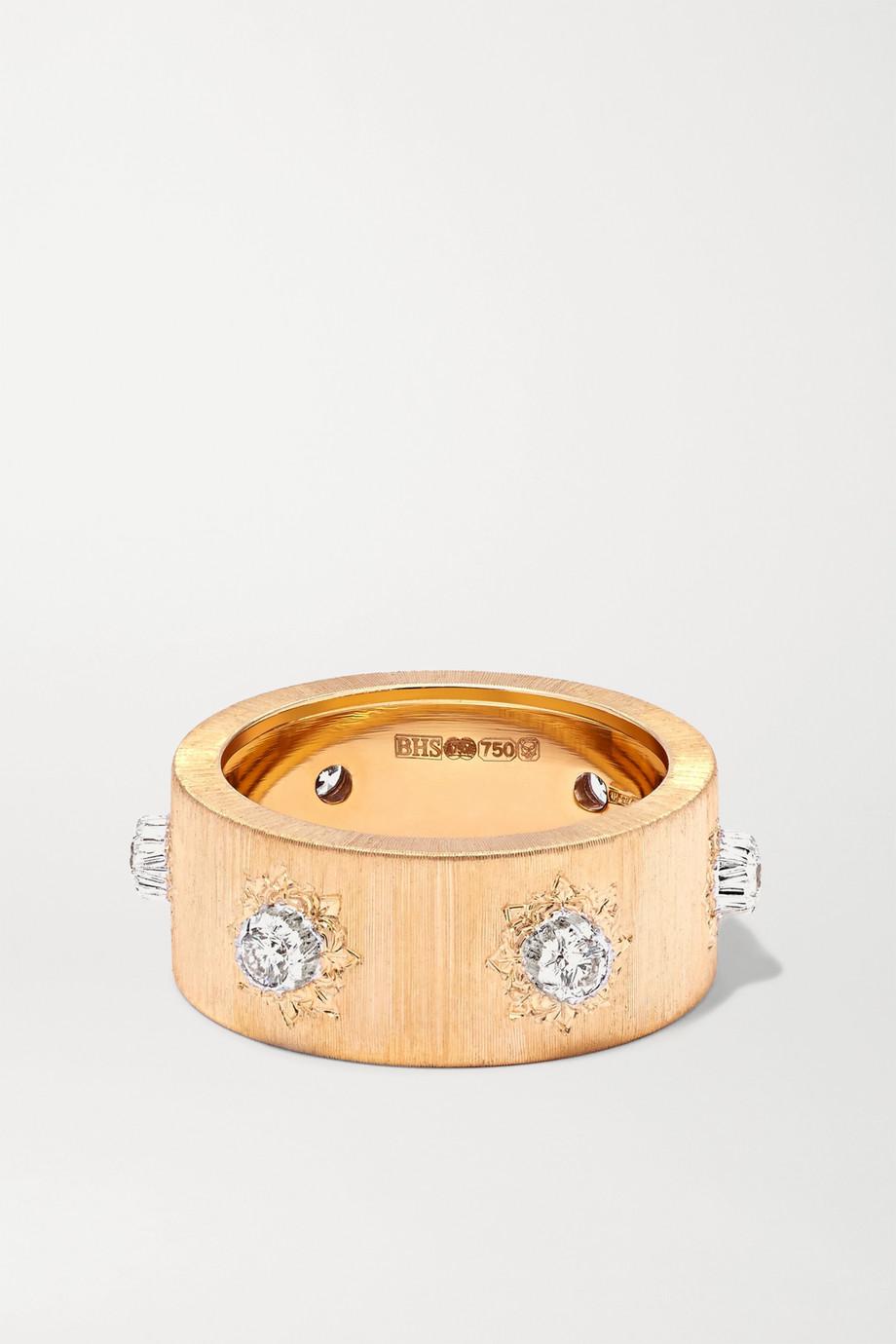 Buccellati Macri 18-karat yellow and white gold diamond ring