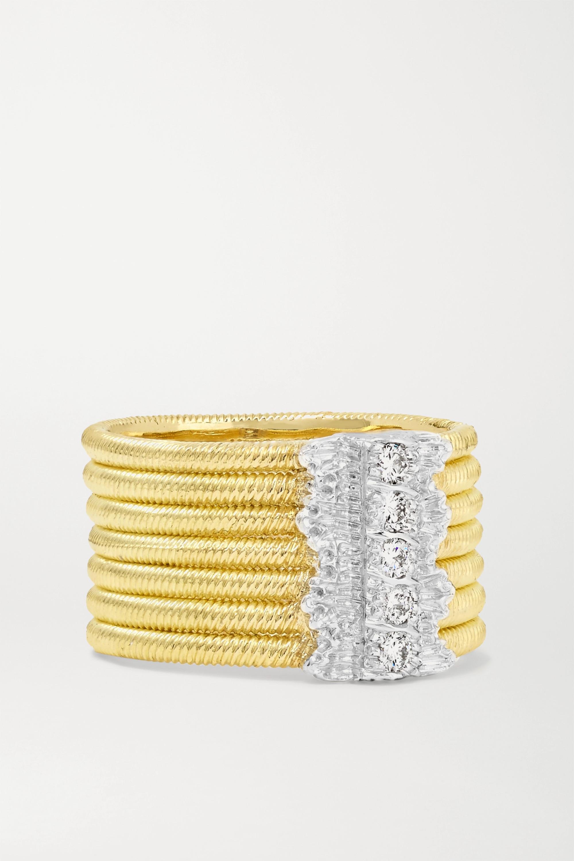 Buccellati - Hawaii 18-karat yellow and white gold diamond ring