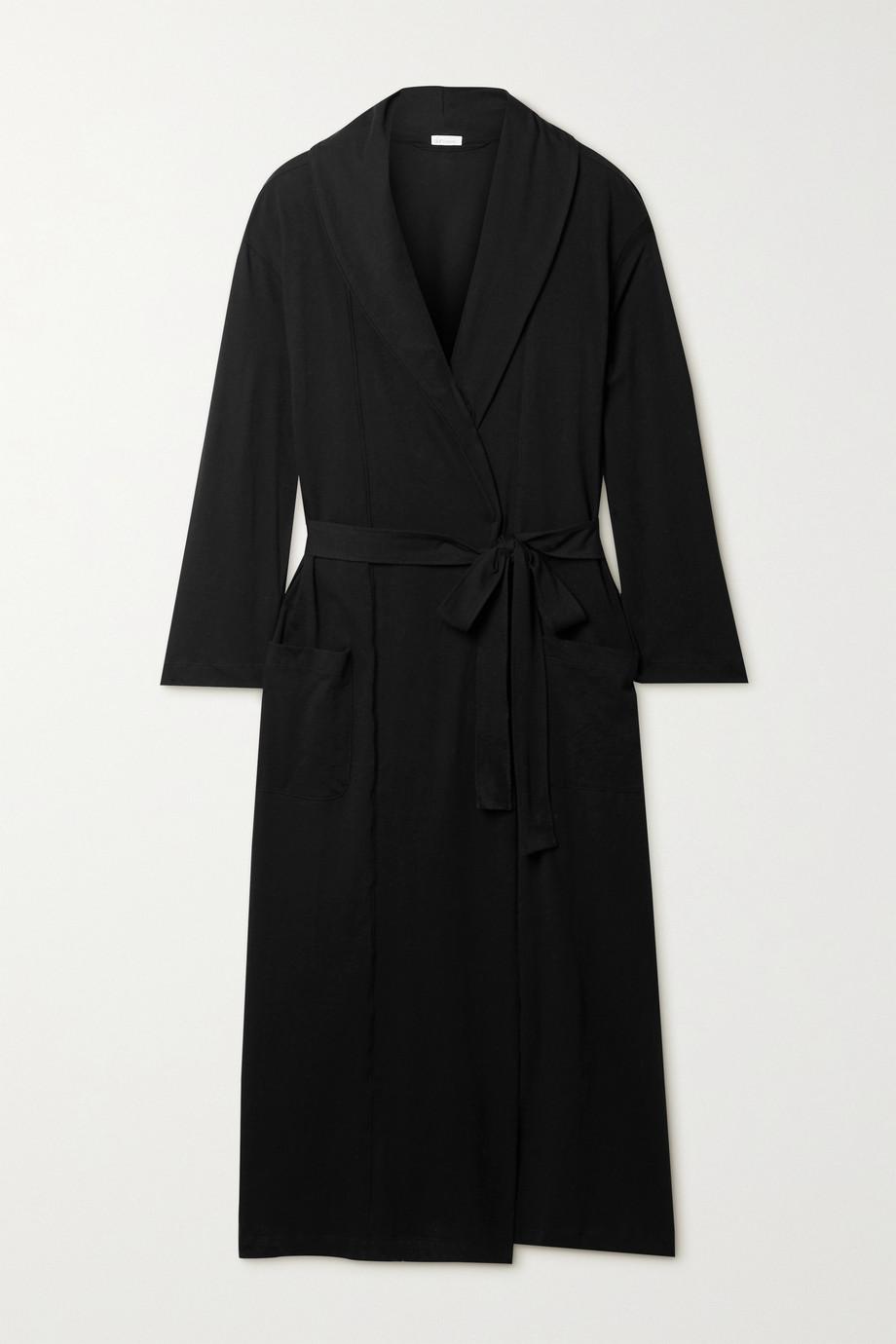 Skin + NET SUSTAIN Carina organic Pima cotton-jersey robe
