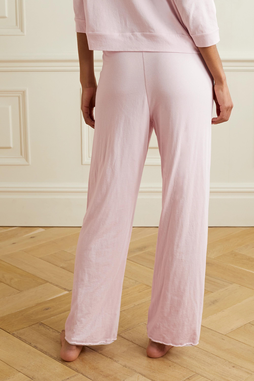 Skin + NET SUSTAIN Guinevere organic Pima cotton-jersey track pants