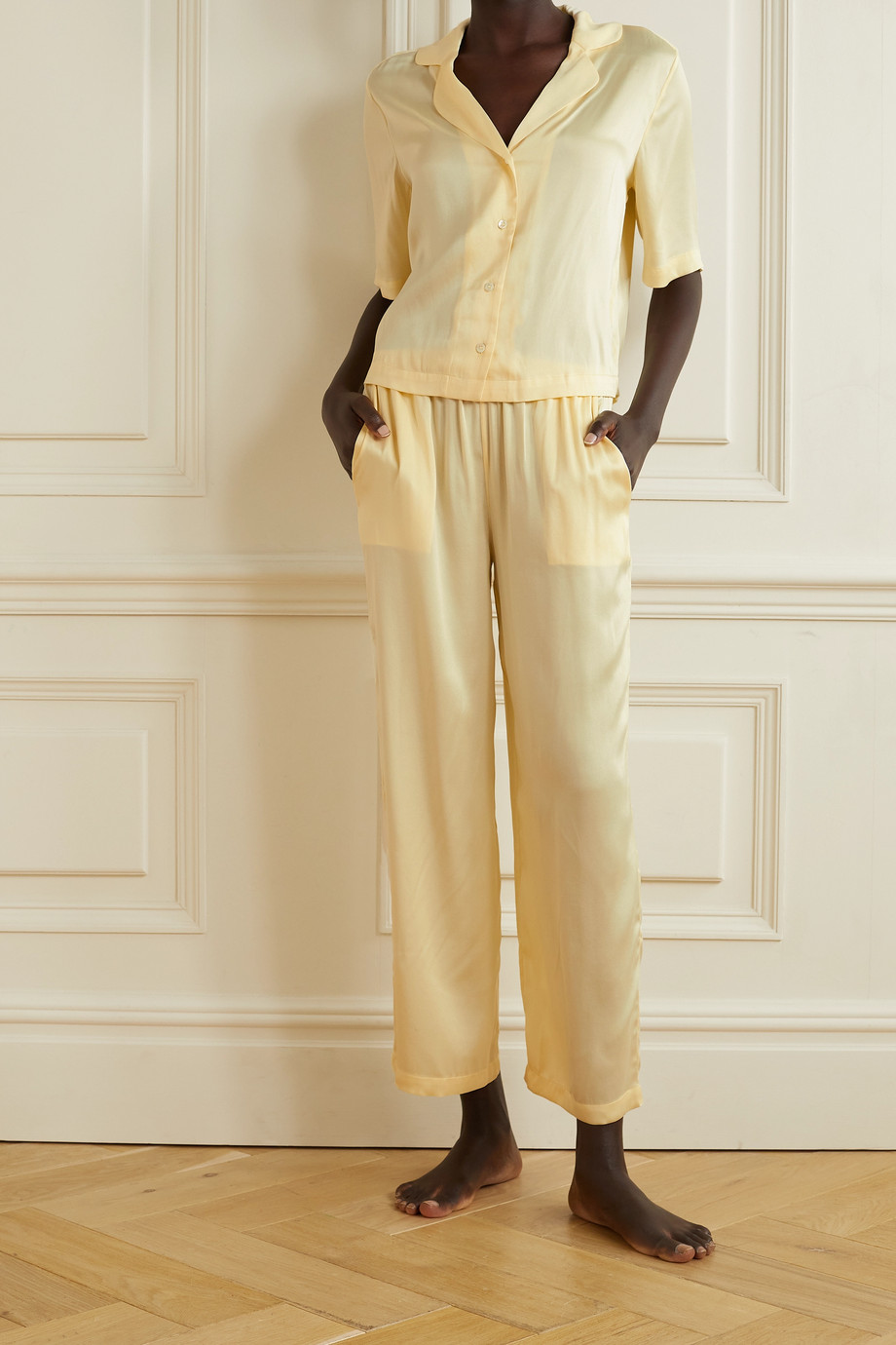 Skin Tay stretch-silk satin pajama set