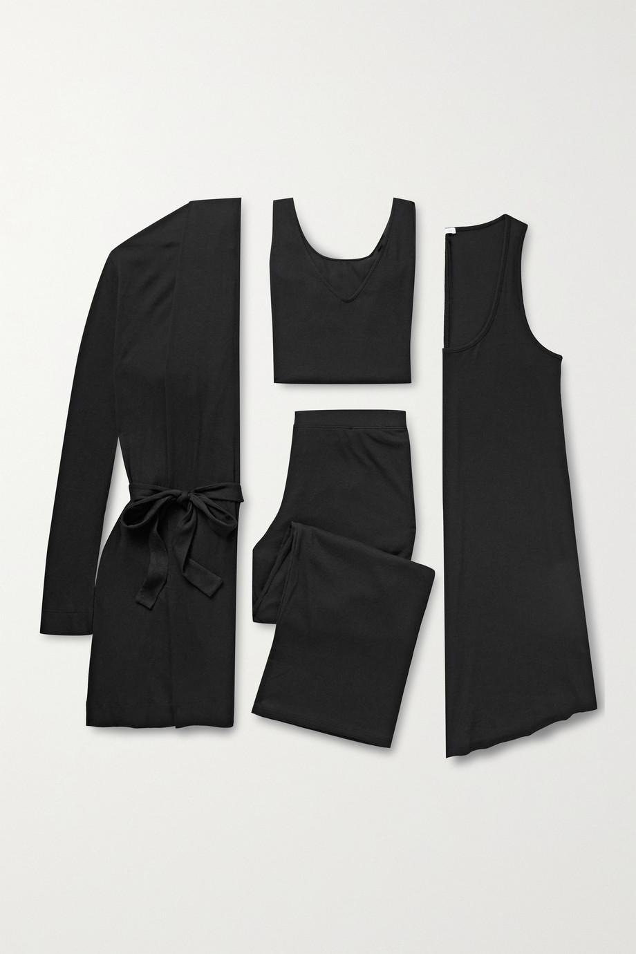 Skin Vêtements de nuit de voyage en jersey côtelé