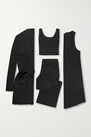 Skin Ribbed jersey travel set