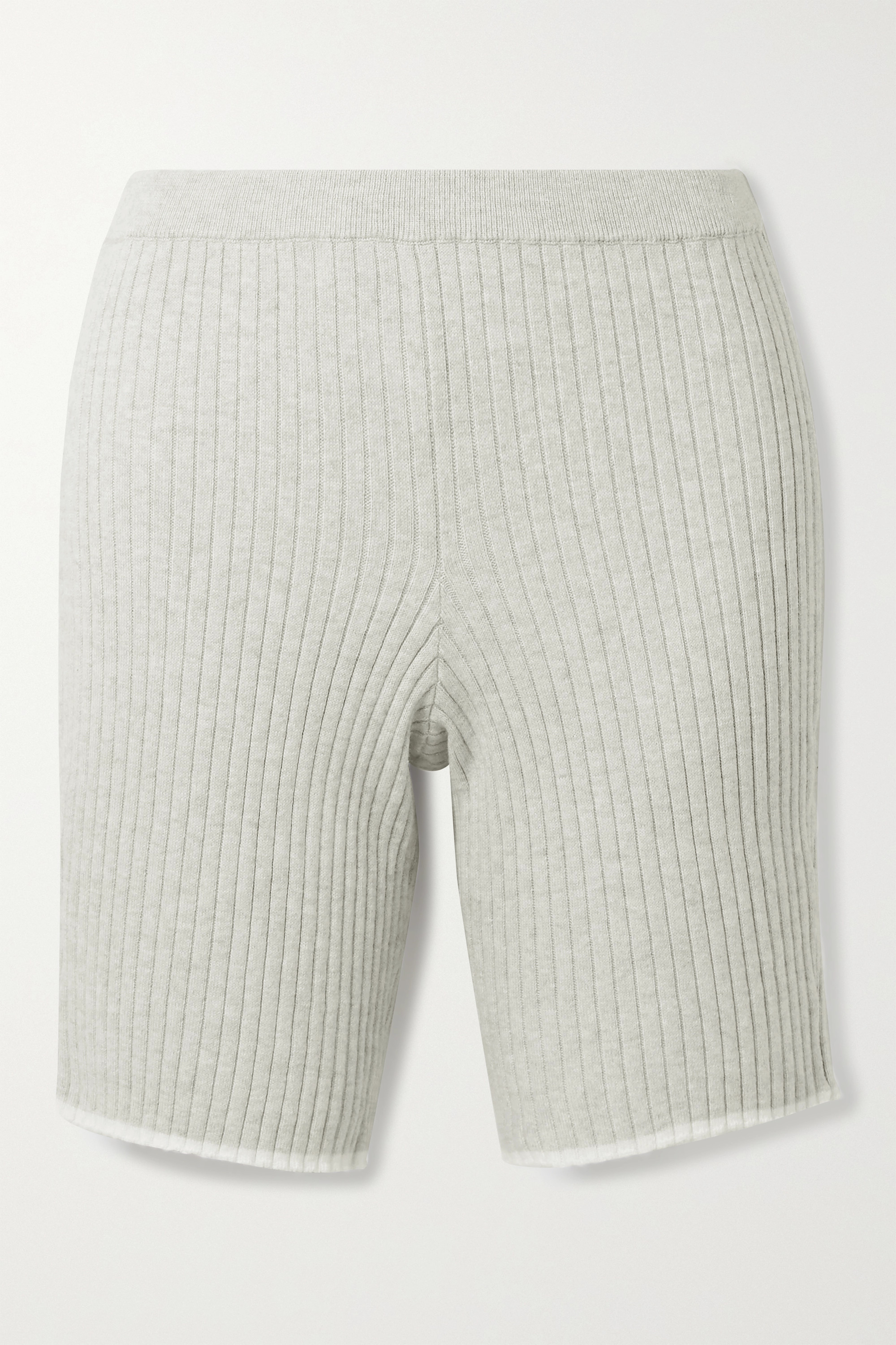 Skin Macey ribbed cotton and cashmere-blend shorts