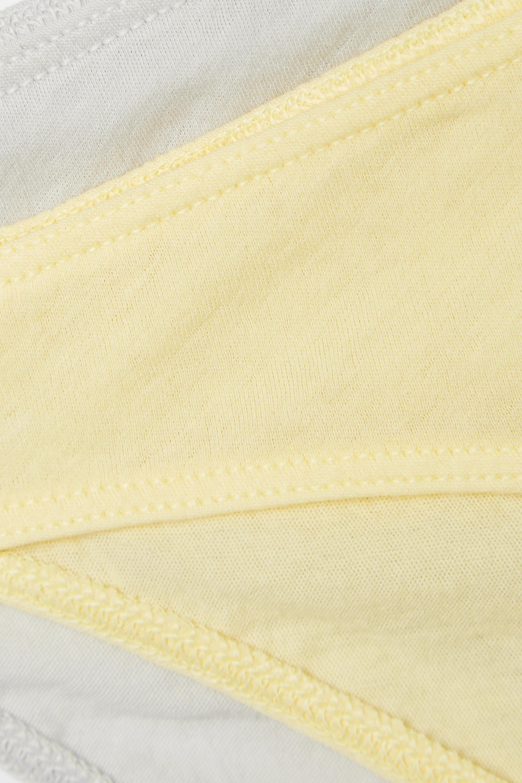 Skin + NET SUSTAIN Set aus zwei Höschen aus Bio-Pima-Baumwoll-Jersey
