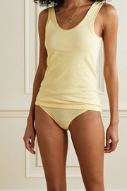 Skin + NET SUSTAIN set of two organic Pima cotton-jersey briefs