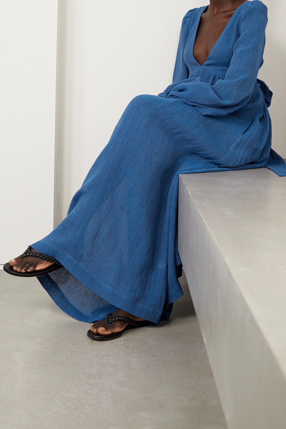 Lisa Marie Fernandez + NET SUSTAIN Carolyn organic linen-blend gauze maxi dress