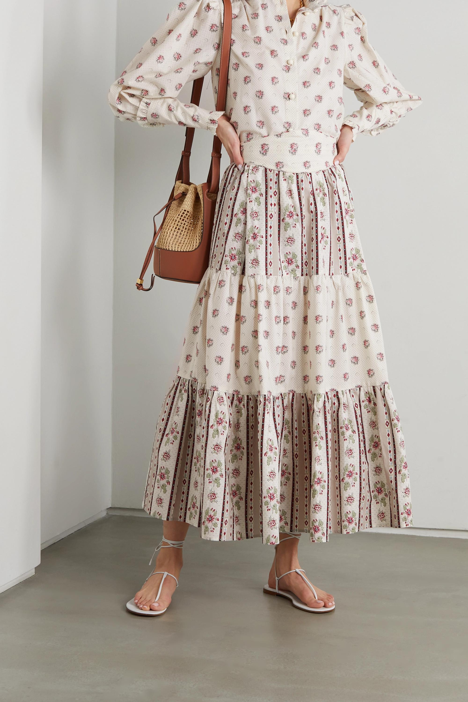 Anna Mason Tati Midirock aus Baumwolle mit Blumenprint