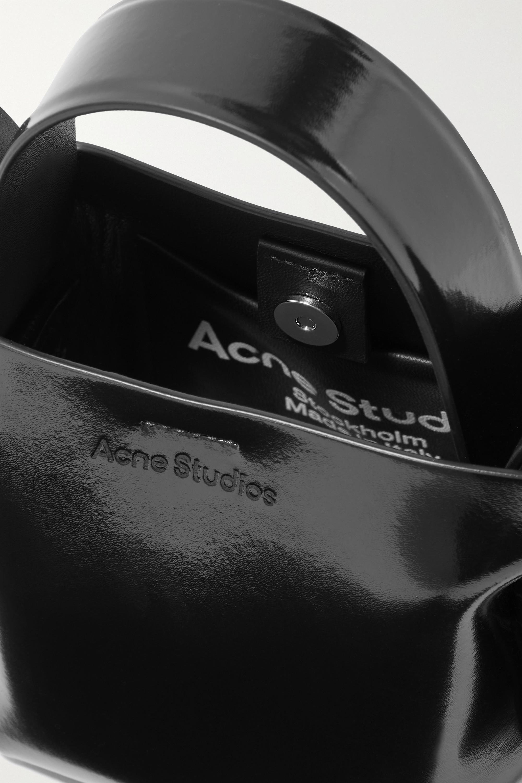 Acne Studios Sac porté épaule en cuir glacé à nœuds Micro