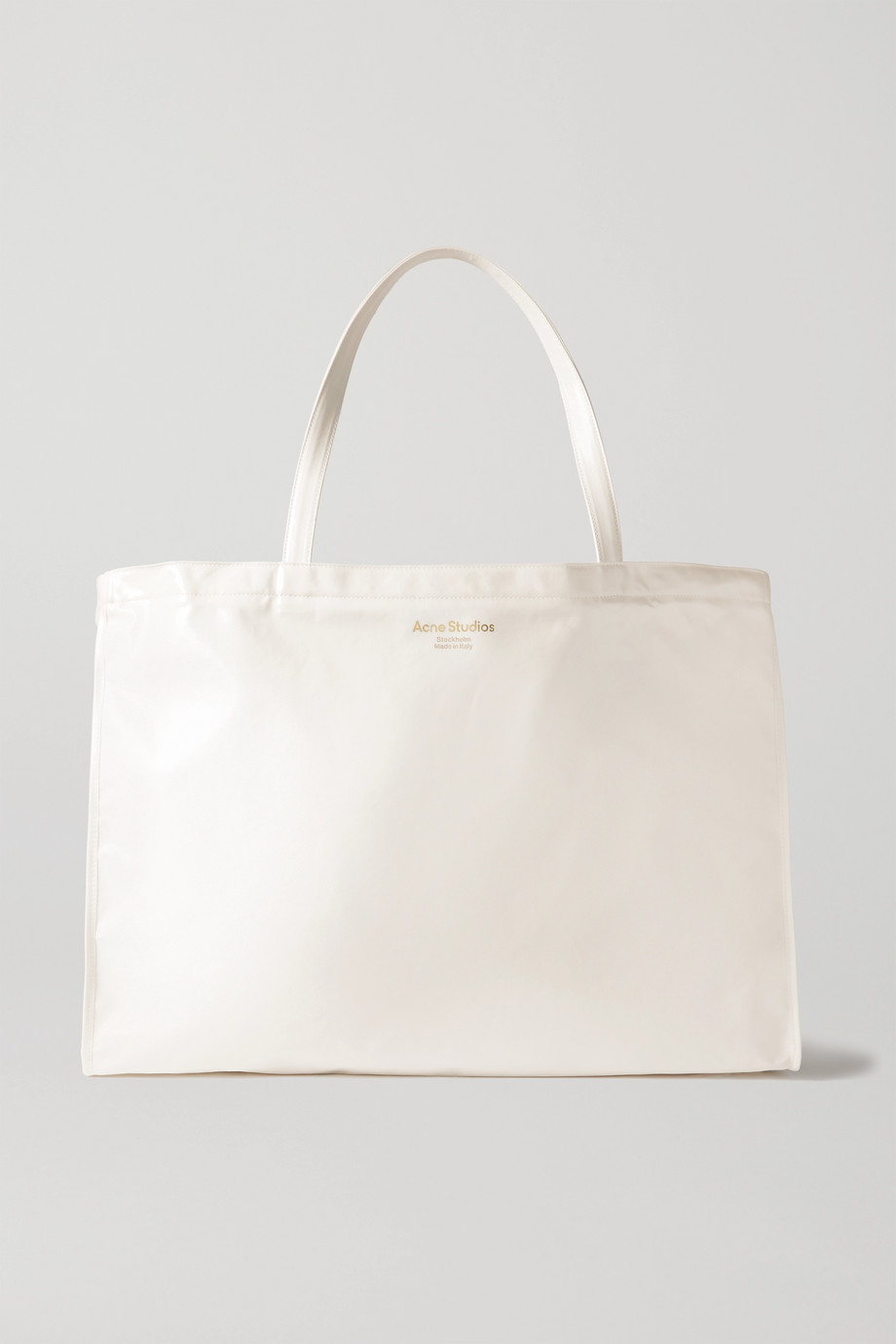 Acne Studios Printed coated cotton-blend tote