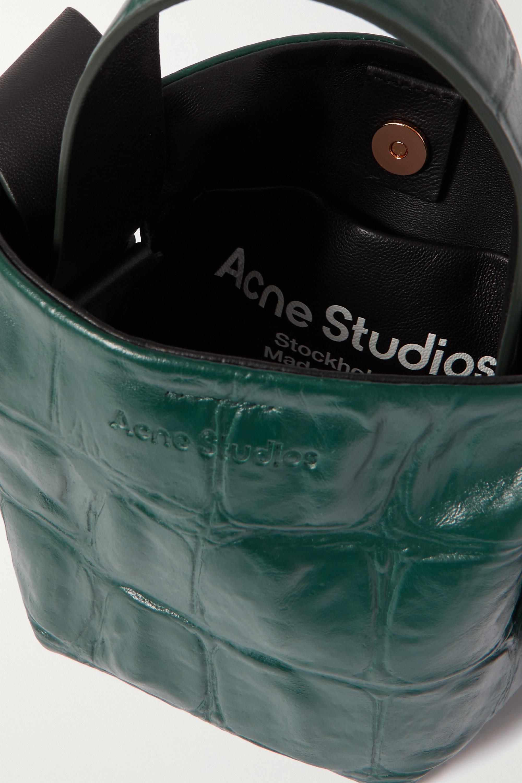 Acne Studios Sac porté épaule en cuir effet croco à nœuds