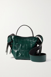 Acne Studios Knotted croc-effect leather shoulder bag