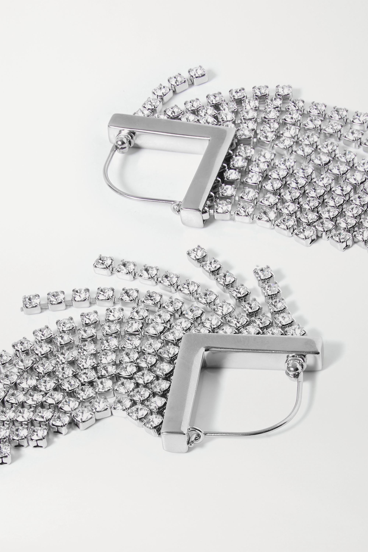 Isabel Marant Melting silver-tone crystal earrings
