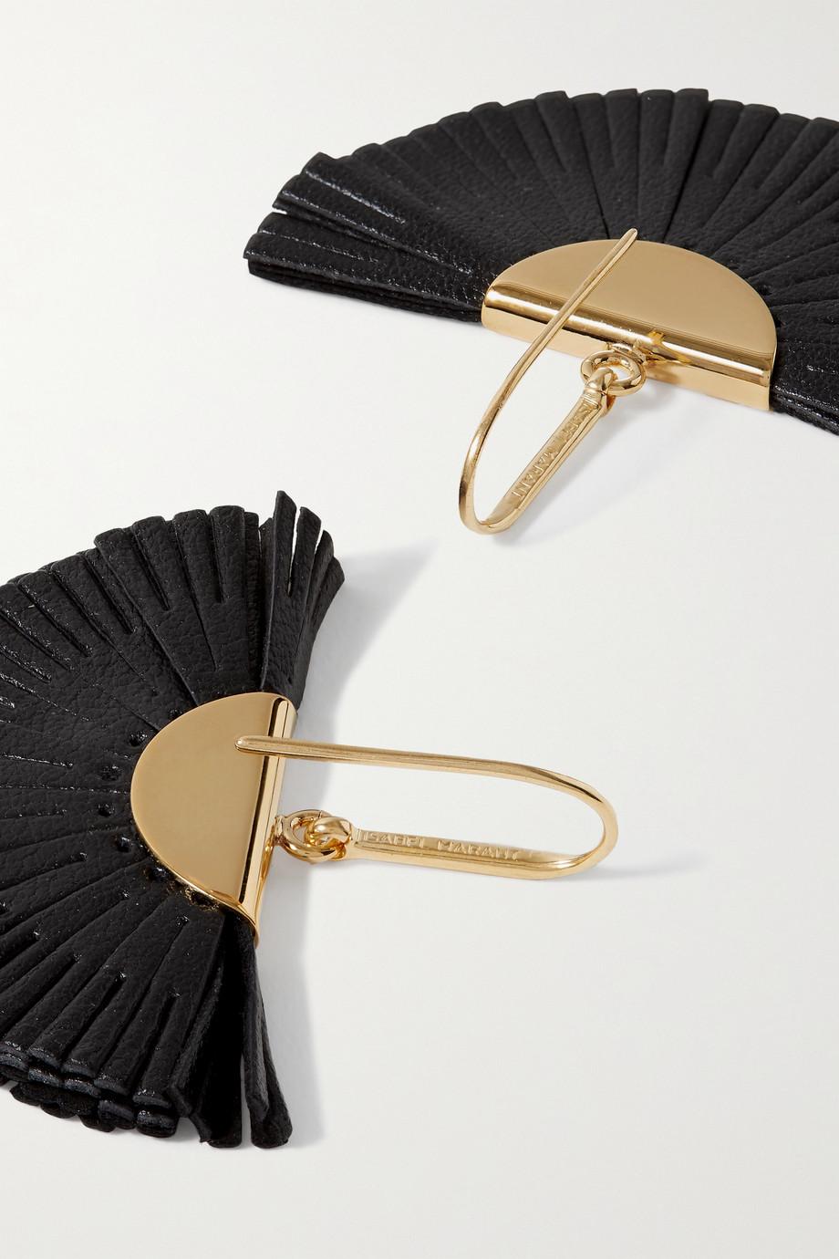 Isabel Marant Ohrringe aus Leder mit goldfarbenen Details