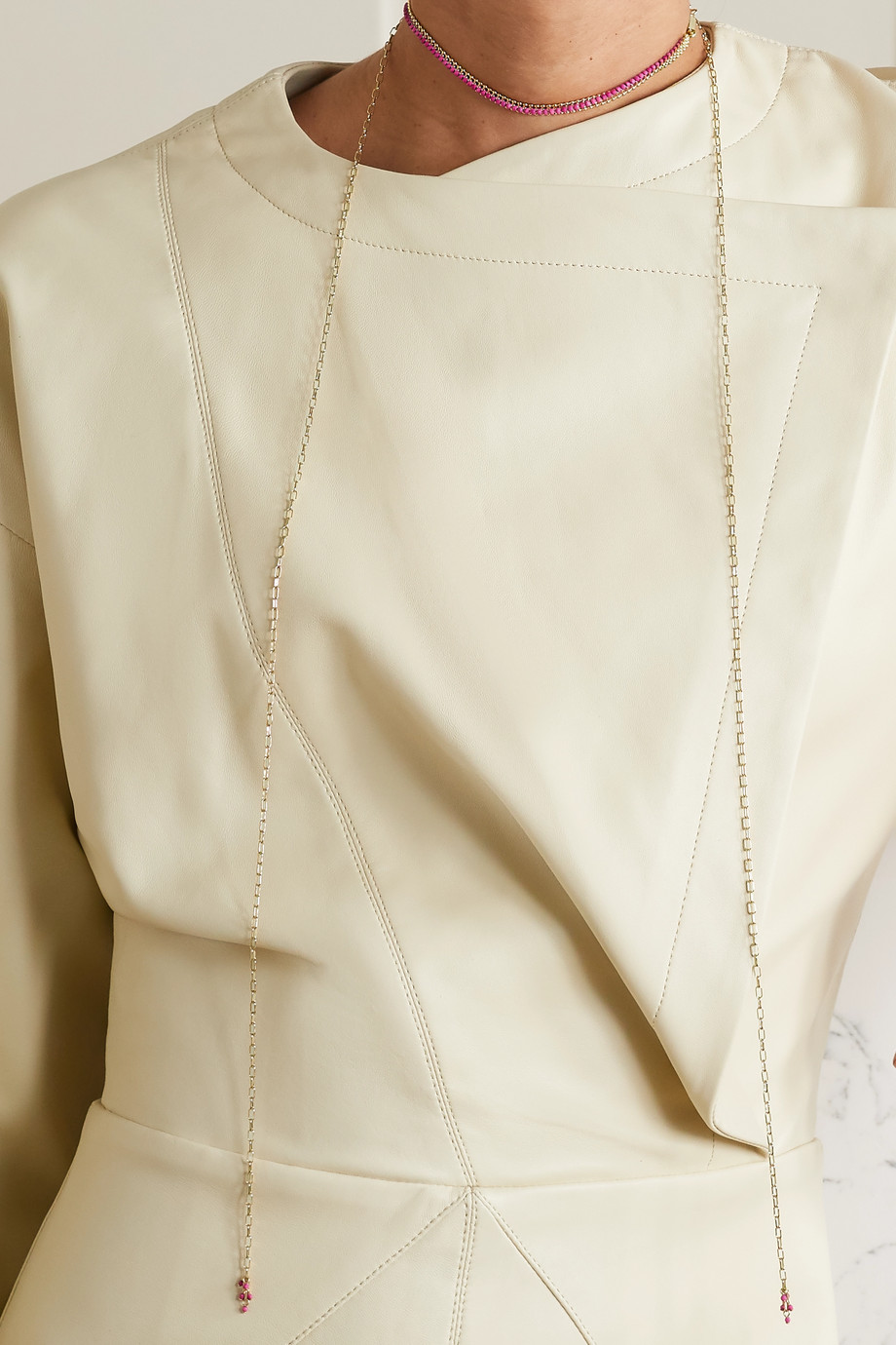 Isabel Marant Goldfarbener Choker mit Zierperlen