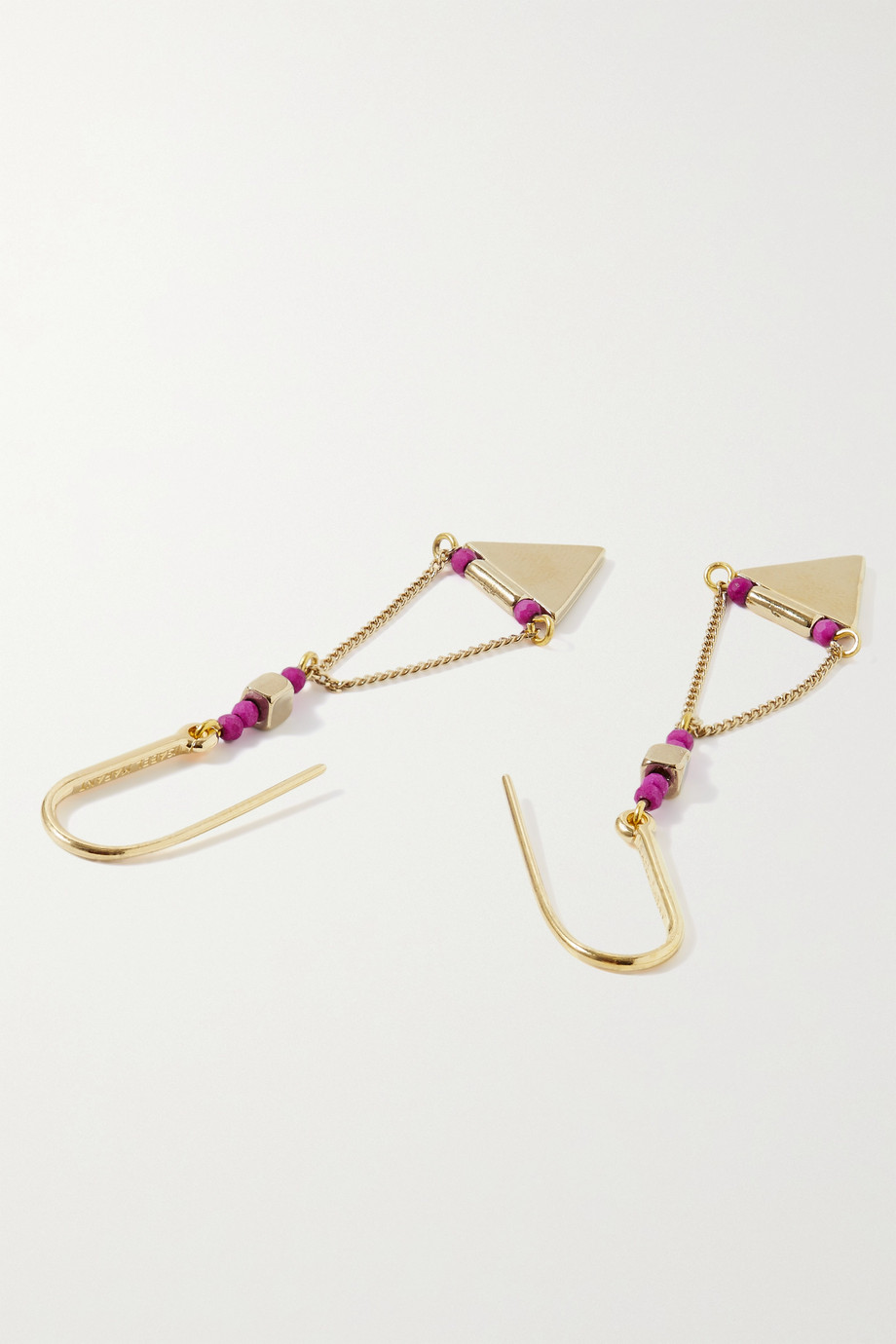 Isabel Marant Rocio gold-tone and bead earrings