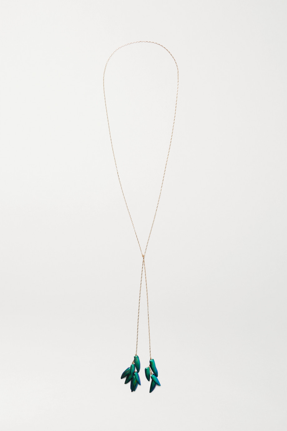 Isabel Marant Gold-tone shell necklace