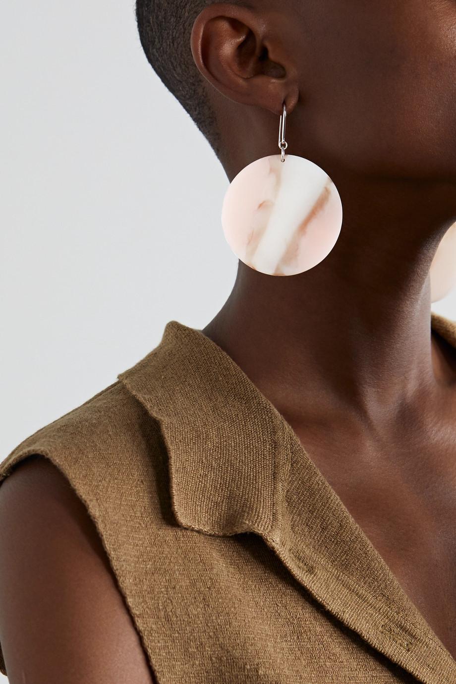 Isabel Marant Boucles d'oreilles en métal argenté et résine B-Girl