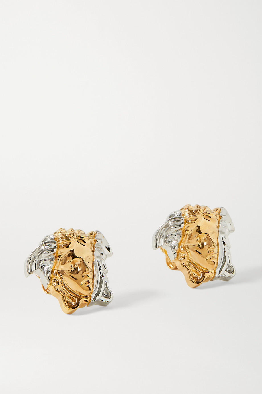 Versace Medusa gold and silver-tone earrings